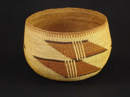 A Large Hupa Basket, Native American Indian, circa: 1915