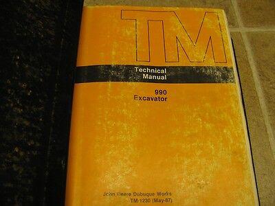 John Deere 990 Excavator Service Technical Manual Tm1230