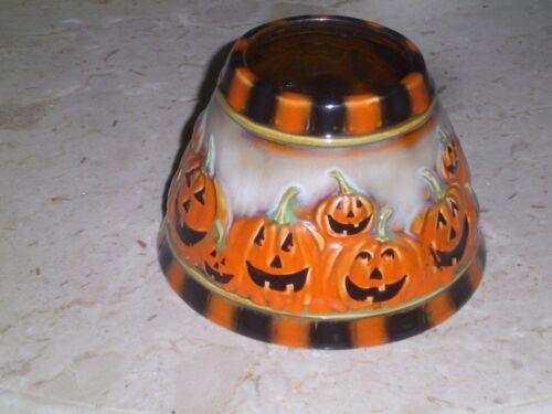 Yankee Candle Large Shade Pumpkins Halloween Ronnie Walter Black Orange