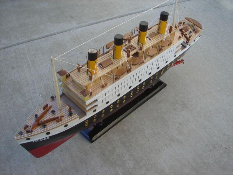 "Titanic wooden model cruise ship 24"""