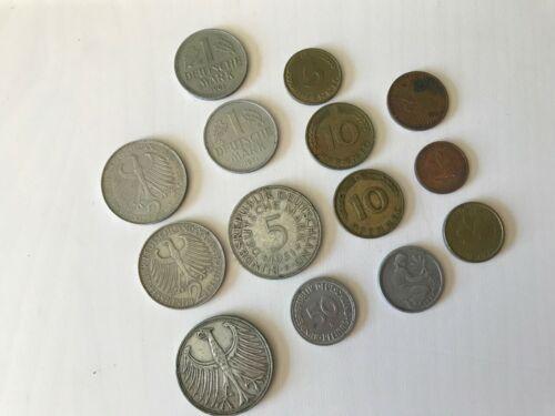Lot: Fourteen Dresdner Bank Vintage German Coins in Sleeves.Various Denomination