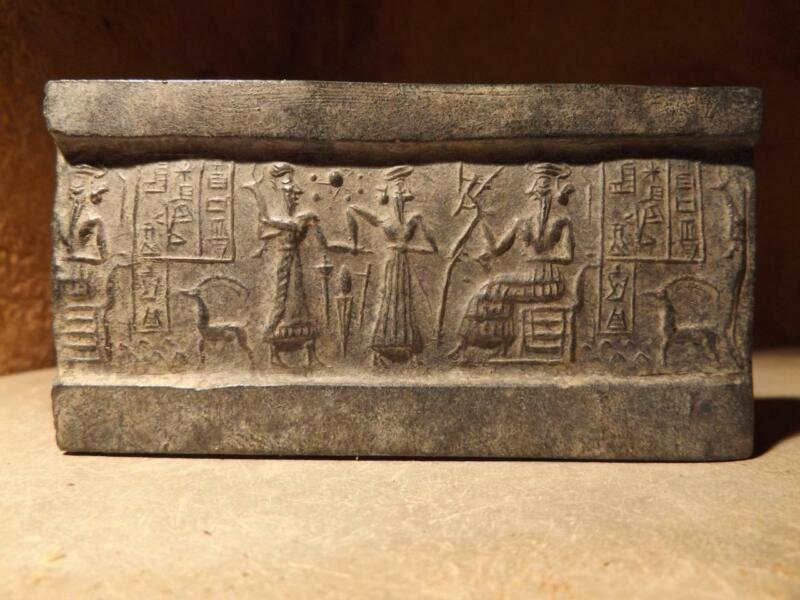 Sumerian cylinder seal impression replica - VA 243 - constellation of Pleiades