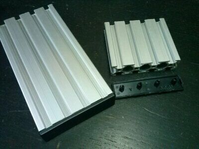 Aluminum T-slot Profile End Cap Plastic Black 20x80mm 8 Pieces-set
