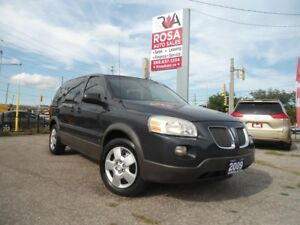 2009 Pontiac Montana SV6 LOW KM 7 PASS AUTO NO ACCIDENT A/C SAFE