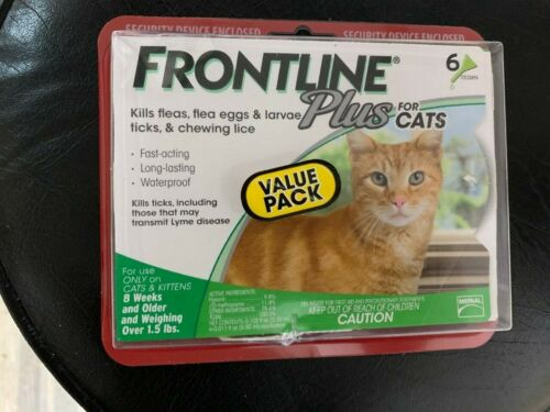Frontline Plus Flea and Tick Treatment for Cats - 6 Doses NEW