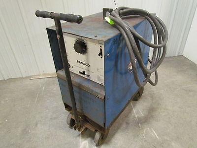 Miller Ramrod 200 Amp Dc Welder Wcart Wremote Amperage Control Outlet