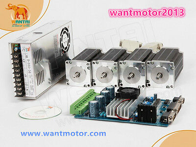 Eu Free Shipwantai 4axis Nema 23 Stepper Motor 270oz-in2 Phase 4-leads Cnc Kit