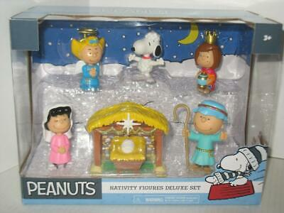 Peanuts Nativity Figures Deluxe Set Charlie Brown Snoopy Lucy Sally NIB Unopened](Snoopy Nativity Set)