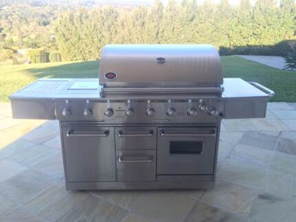 Matador 6 Burner Stainless Steel BBQ with Gas Oven + Side Burner Pullenvale Brisbane North West Preview