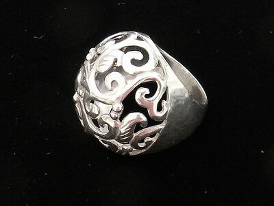 Silpada Swirly Girl Dome Sterling Silver Ring Size 9.5