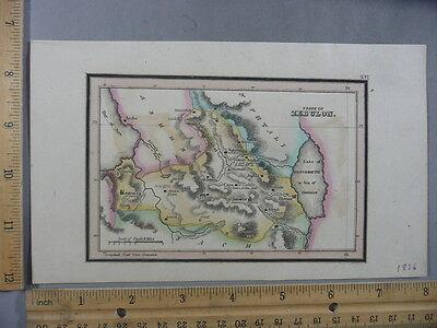 Rare Antique Orig VTG Leavitt Lord Bethlehem Tribe Of Zebulon Map Engraved Print