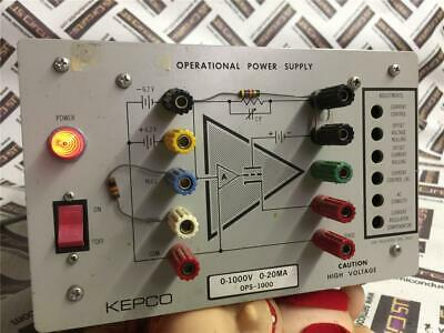 Kepco Ops-1000 Operational Power Supply 0-1000v 0-20ma W Power Cord