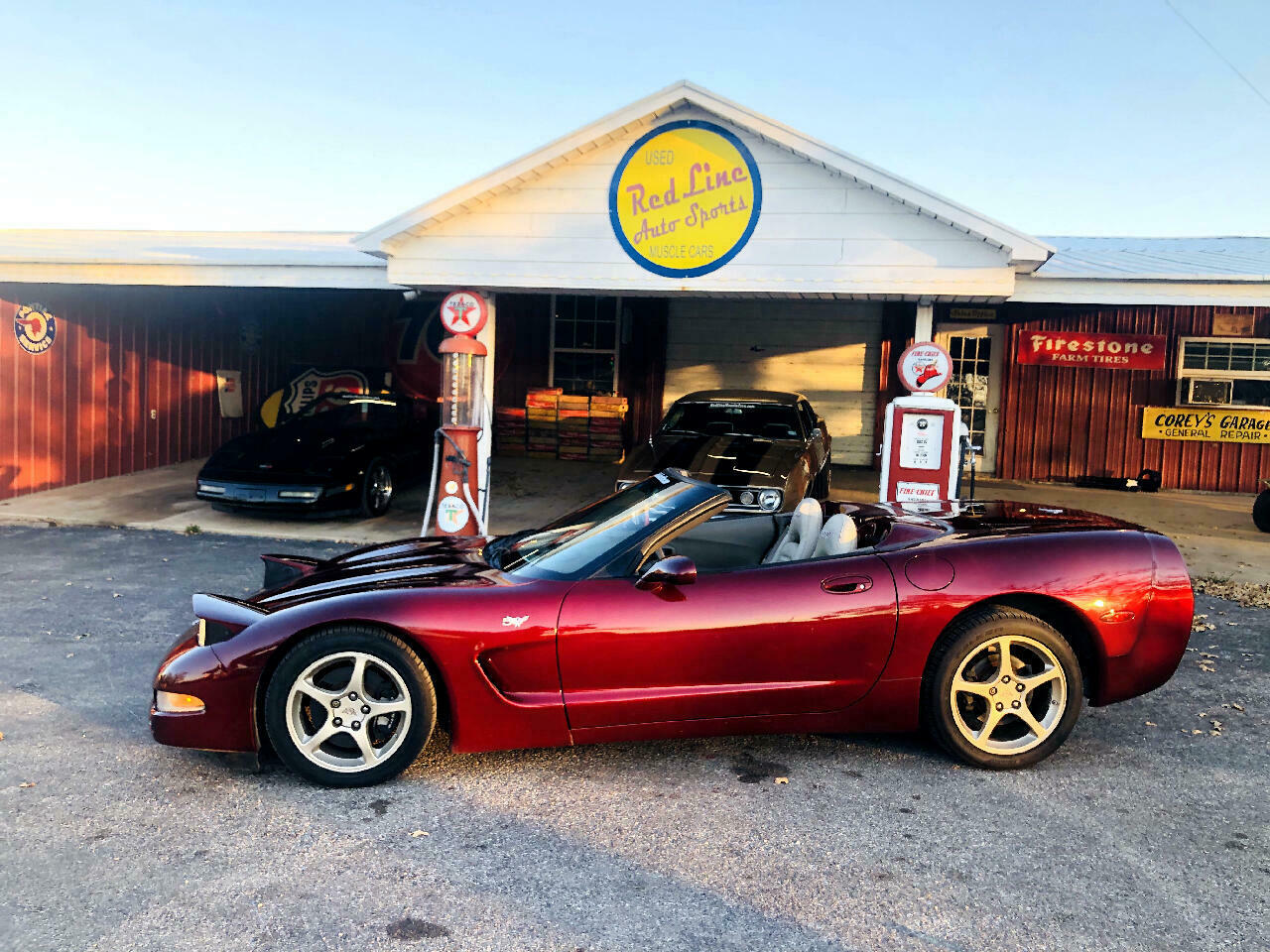 2003 Burgundy Chevrolet Corvette Convertible  | C5 Corvette Photo 3
