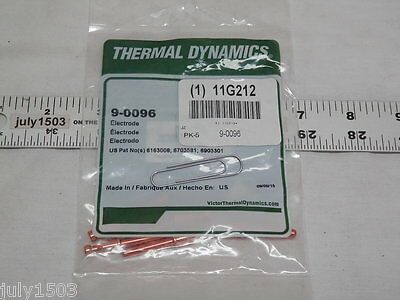 Genuine Thermal Dynamics 9-0096 Electrode 5 Pack Plasma Cutter Torch