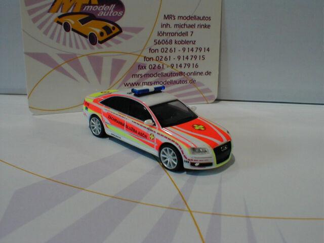 """Herpa 092357 # Audi A8 """" ASB Tschechien """" (CZ) in weiß-orange-gelb 1:87"""