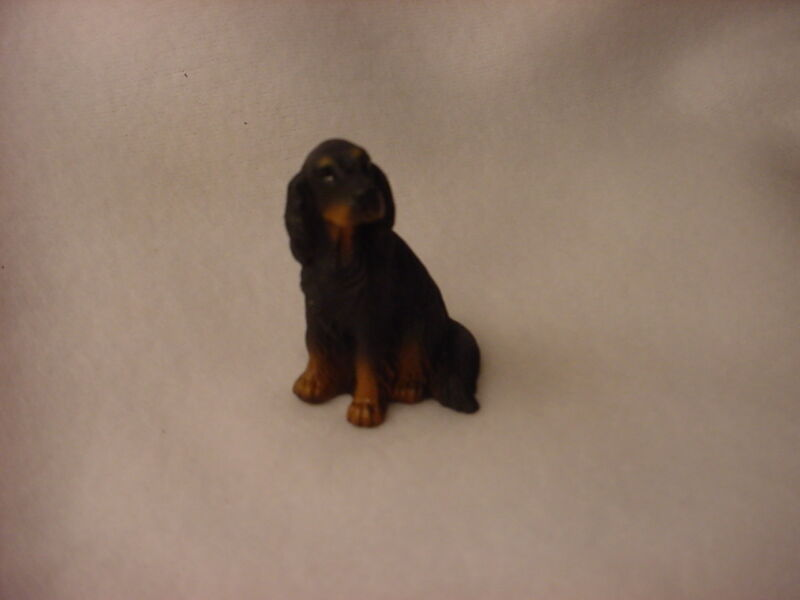 GORDON SETTER dog HAND PAINTED MINIATURE FIGURINE resin Small Mini COLLECTIBLE