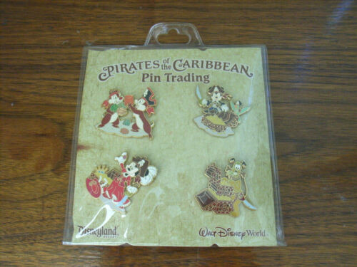 Pirates of the Caribbean Booster Pin Set 2006 Mickey Minnie Pluto Chip & Dale