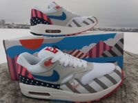 outlet store c19ed ca97c New with box Nike Air Max 1 PARRA 9.5 U.S. горошек. белый Ретро модель Big  sale! Успей купить + Free shipping