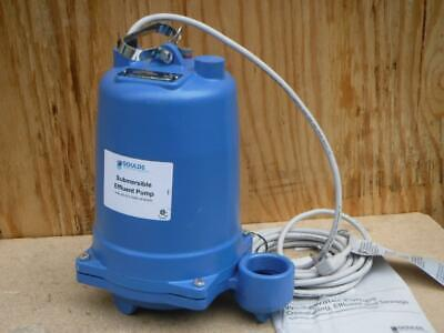 New Goulds Water We0712h 34 Hp Submersible Effluent Pump - No Switch Type
