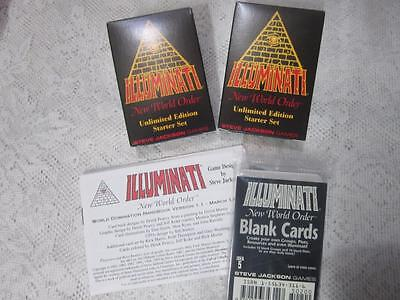 Starter Set Unlimited   Illuminati Card Game   Inwo   New World Order   Nuke