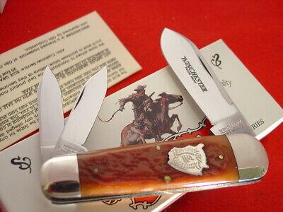 """Winchester USA 19122 BH Buffalo Bison Shield Bone Whittler 4-1/8"""" knife ld"""