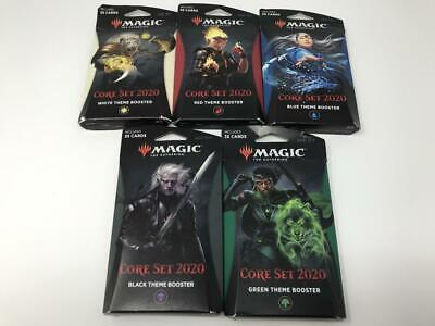Magic The Gathering MTG Core Set 2020 5 Theme Booster Pack Lot (inv:A29)
