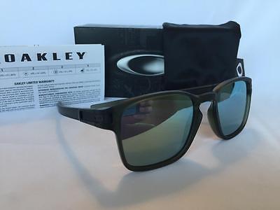 Oakley LATCH SQUARE SQ Sunglasses Retro Matte Olive Ink/Emerald Iridium 9353-08