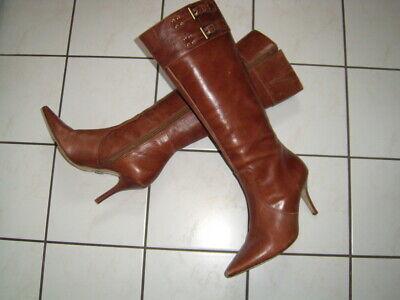 Buffalo Cognac Stiefel 11480 Lederstiefel 11480 GoGo 24400 36 Vintage Boots Lady