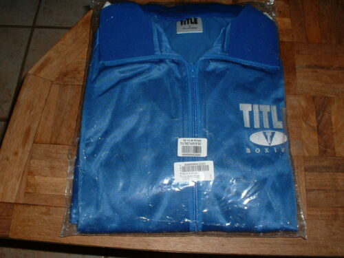 Title Boxing Tricot Pro Warm Up Suit Royal Blue & White Medium NEW