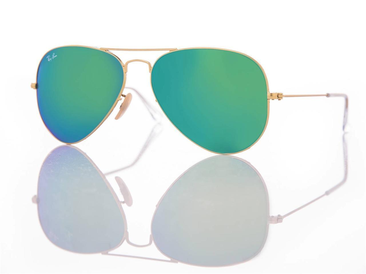 d1abaa248a Details about New Authentic Ray-Ban Sunglasses RB 3025 Aviator 112 19 Gold Green  Mirror 62mm