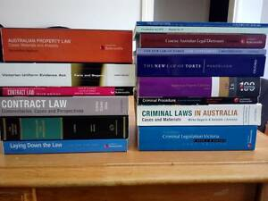 Law Textbooks Various Bayswater Knox Area Preview