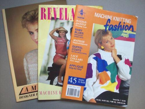 Lot of 3 Machine Knitting magazines Revelations  Fashion sweaters