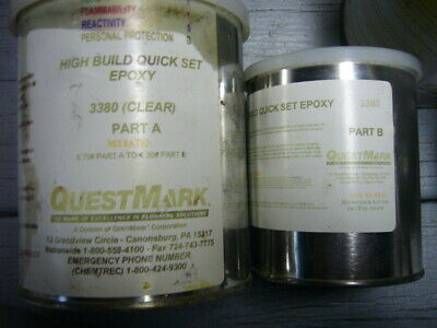 Epoxy High Build Quick Set By Quest Mark 3380 Part A And Part B Two 2 Of Eac