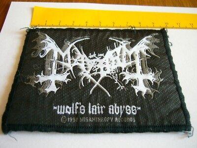 MAYHEM – very rare old original 1998 Wolf's…  Patch!!!