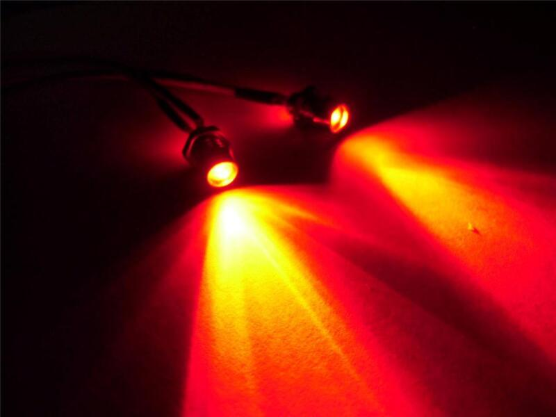 Red 3mm RC LED Lights RX Plug & Play Traxxas HPI Truck Car Buggy 1/10 1/12 1/16