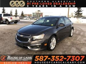 2015 Chevrolet Cruze 2LT / Heated leather seats / Back Up camera