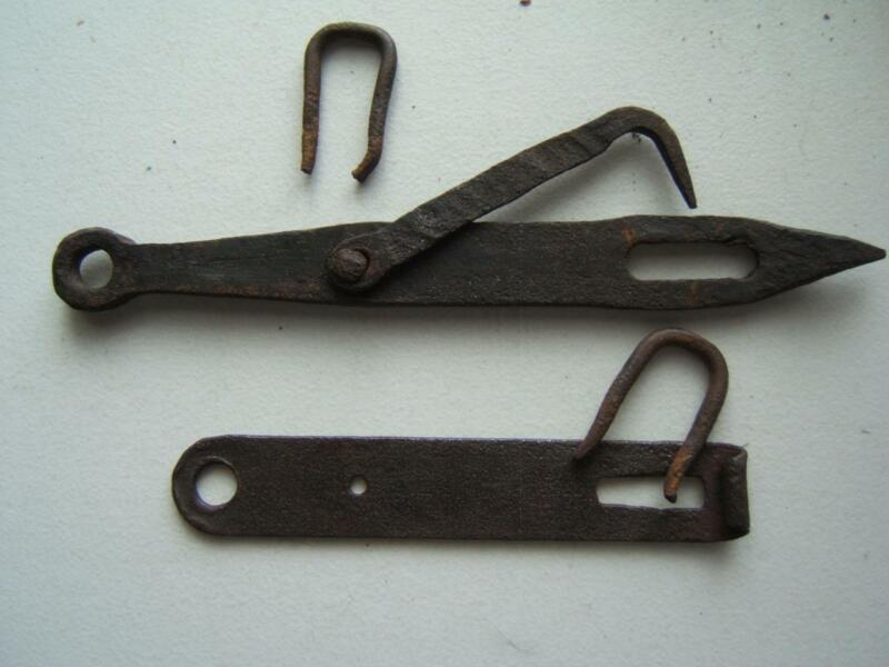 "ANTIQUE 12"" HAND FORGED CAST IRON GATE LATCH"
