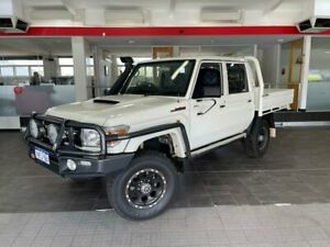 2016 Toyota Landcruiser VDJ79R GXL Cab Chassis Double Cab 4dr Man 5sp, 4x4 4.5DT White Manual