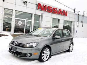 2012 Volkswagen Golf TDI Leather, Moonroof, Navigation  $161 BIW