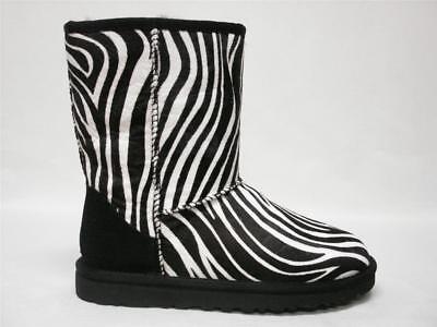 NIB UGG AUSTRALIA CLASSIC SHORT EXOTIC ZEBRA BOOTS 7 WOMENS #1002790 RARE & HTF for sale  Shipping to Ireland