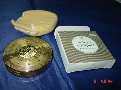 Vintage Rare House of Fuller Deluxe Compact UNUSED Boxed Warm Beige 3/4 ounce