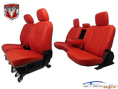 Dodge Ram Red Leather Seats 2009 2010 2011 2012 2013 2014 2015 2016 2017 2018