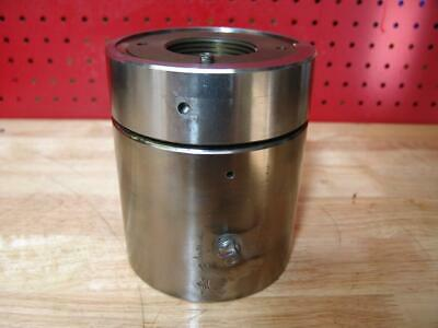 Enerpac Hydraulic Hollow Cylinder Nickel Plated 6 X 5 X 2 Hole 10000 Psi