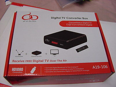 New AOB Digital TV Television Converter Box Recording Remote HD 1080p A19-106