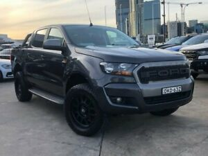 2016 Ford Ranger PX MkII XLS Double Cab Grey 6 Speed Sports Automatic Utility