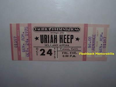URIAH HEEP Unused MINT 1975 Concert Ticket FRESNO SELLAND ARENA Very Rare