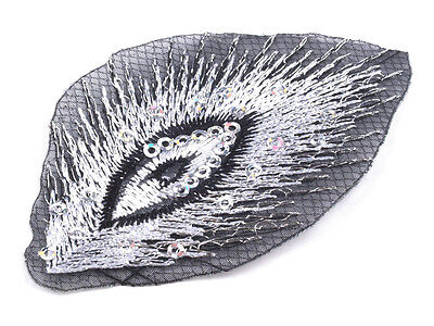 Large*Iron On Patch PEACOCK *50x80mm*Applique*Embroidery*5 Colours