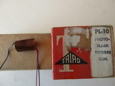 Triad Transformer Photoflash Pl-10 Trigger Coil Pri .2 Sec115v Output 6-8kv