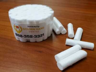 100 Pcs Dental Cotton Rolls 2 Medium Chlorine Free - Free Shipping