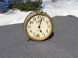Antique Westclox Canada Big Ben Peg Leg Alarm Shelf Desk Clock Restore Runs Well